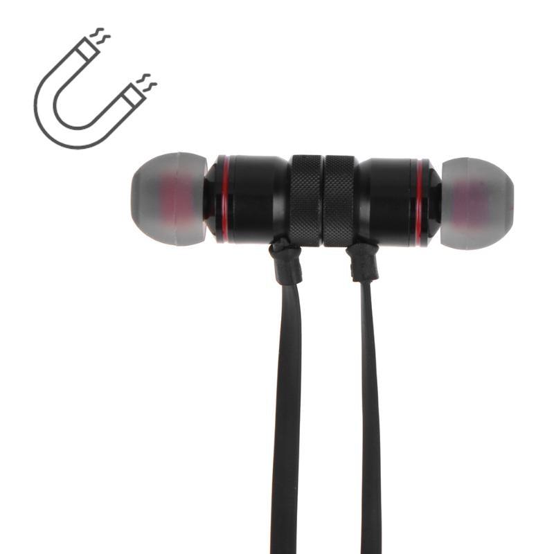 ALLOYSEED Magnetic Sports Earphone Wireless Bluetooth 4.1 A2DP Stereo Bluetooth In-ear Earphone for IOS Andorid Smartphone 2 in 1 wireless bluetooth earphone