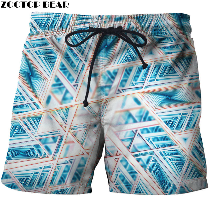 Funny Men T-Short Summer Leisure Surfing Beach Punisher Short Bodybuilding Breathable Fitness Male Quick Dry Pants Gyms 3D print