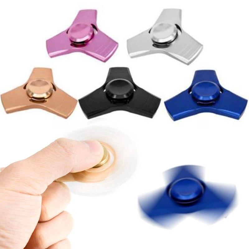 Tri Fidget Spinner Metal Hand Spinner Ceramic Bearing Desk Focus EDC Finger Fidget Toys