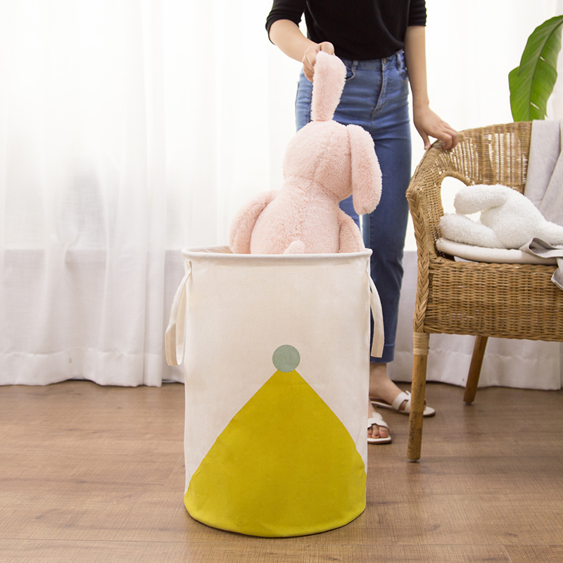Купить с кэшбэком Laundry Basket Super Large Storage Baby Toy Washing Dirty Clothes Sundries Box Organizer Bin Folding Waterproof Cotton Picnic