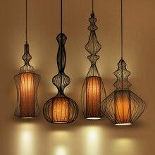 Jahrgang Industrielle Beleuchtung Anhänger Lichter Suspension Leuchte Amerikanischen Schmiedeeisen Retro Esszimmer Küche Anhänger Lampe