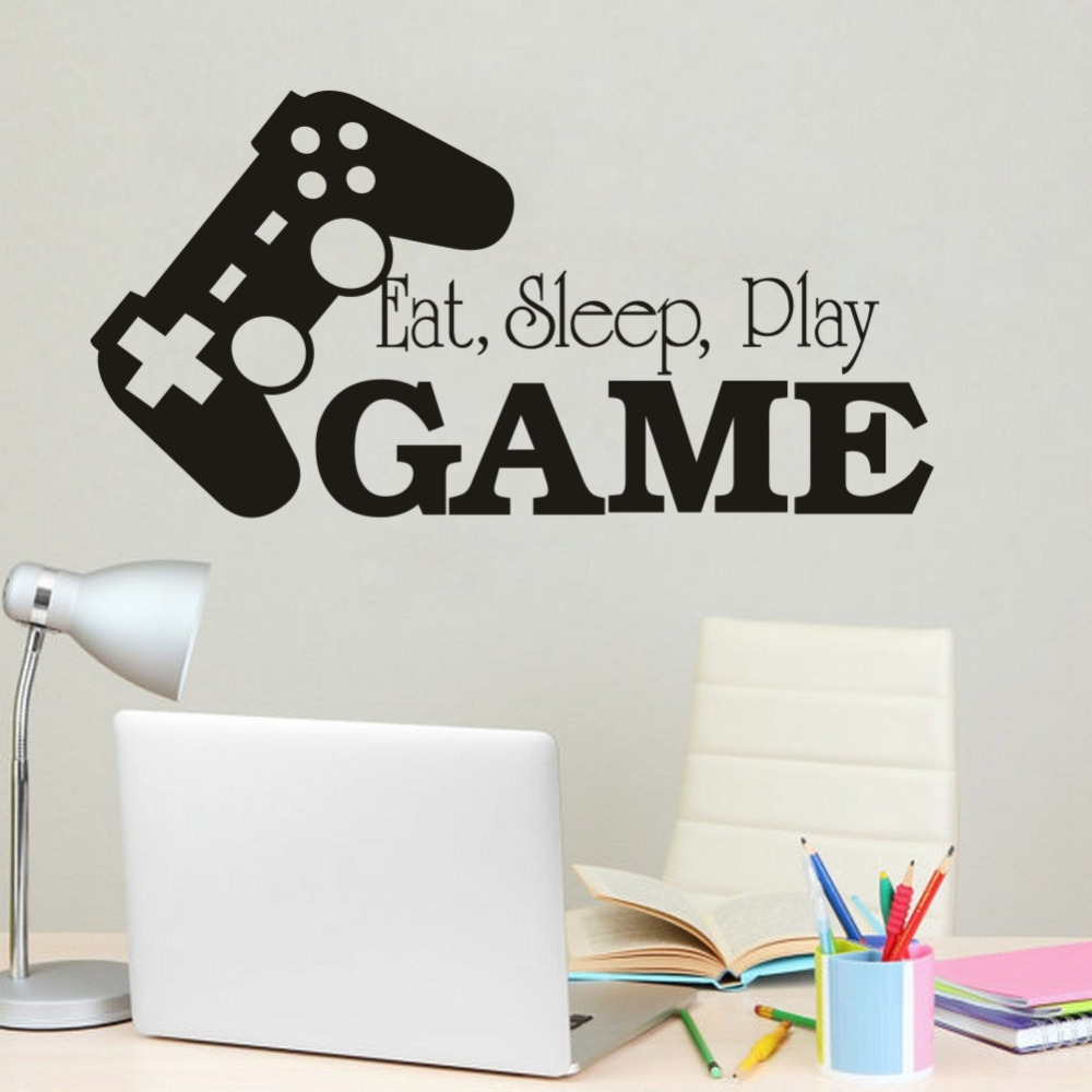 online buy wholesale wall decals eat sleep game from china wall