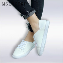 Plus Size 34-46 Women Flats shoes Lace Up casual shoes Espadrilles woman shoes White Sneakers Shoes Walking Female zapatos mujer