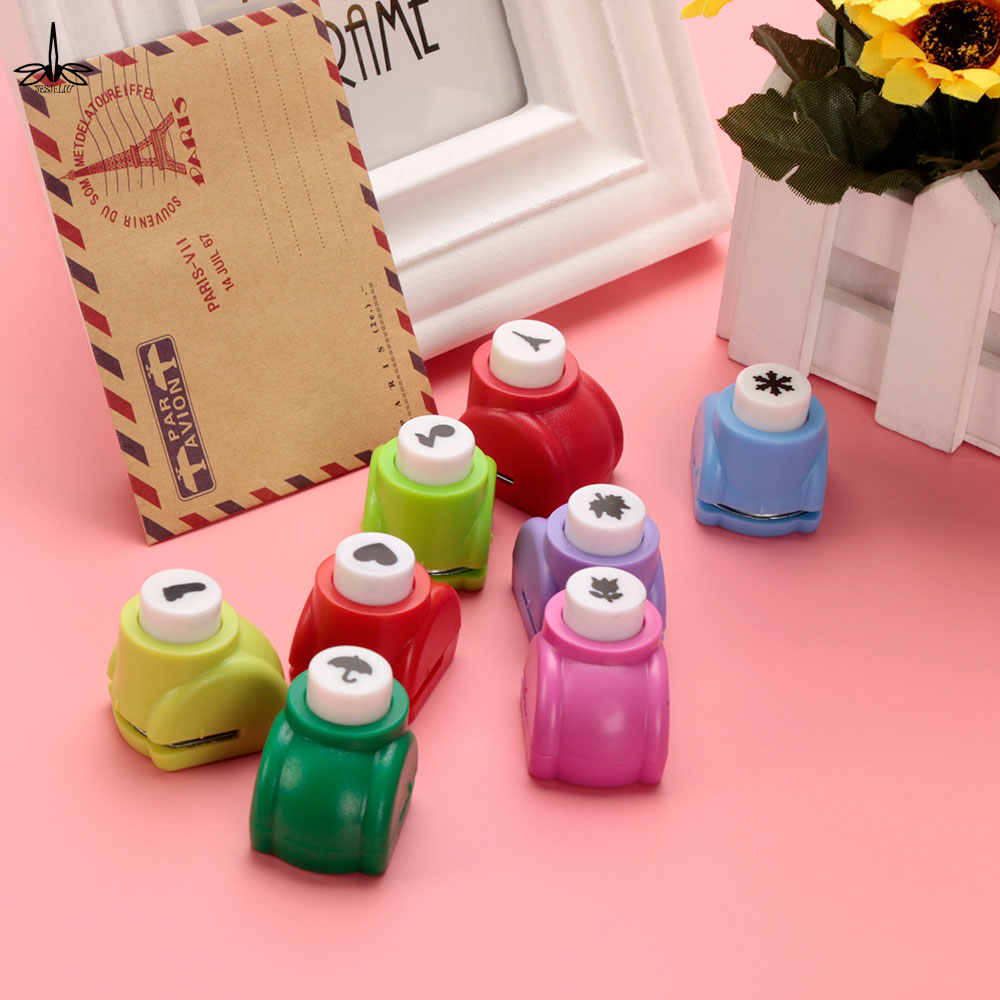 1 PCS Kid Hole Punch Mini Printing Paper Hand Shaper Scrapbook Tags Cards Craft DIY Punch Cutter Tools 8 Styles HOT