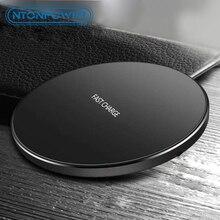 NTONPOWER Qi быстрая Беспроводная зарядка для Samsung Xiaomi Huawei 10 Вт, умная быстрая Беспроводная зарядка для iPhone 8 X XR XS Max