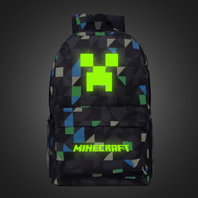 2017 Children/Kids Birthday Gift Minecraft Glowing  Luminous School Bag minecraft creeper backpack for Boy and Girls Knapsack five in one uniting chess wood multifunction checkers backgammon exercise children thinking family board game kids birthday gift