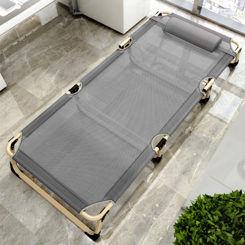 Single Folding Mesh Bed Breathable Material Beach Lounger Portable Cot Room Saving Guest Beds for Indoor/Outdoor Office Rest