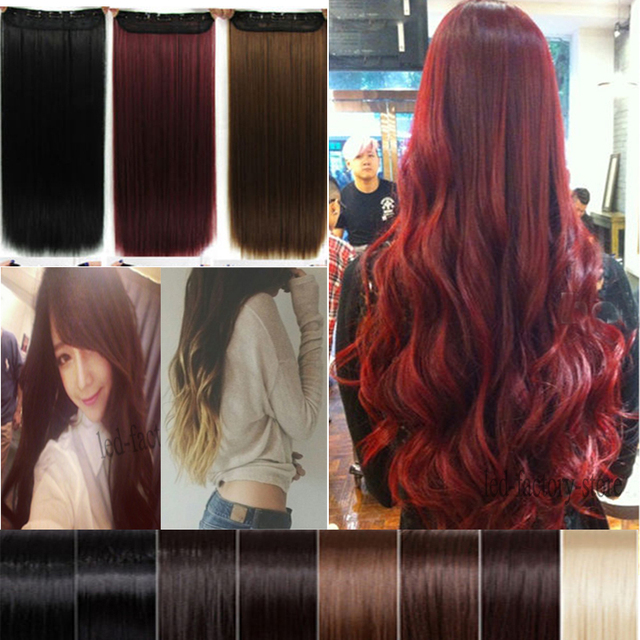 Aliexpress buy clearance sale 26 inch long straight 34 full clearance sale 26 inch long straight 34 full head clip in hair extensions half pmusecretfo Gallery