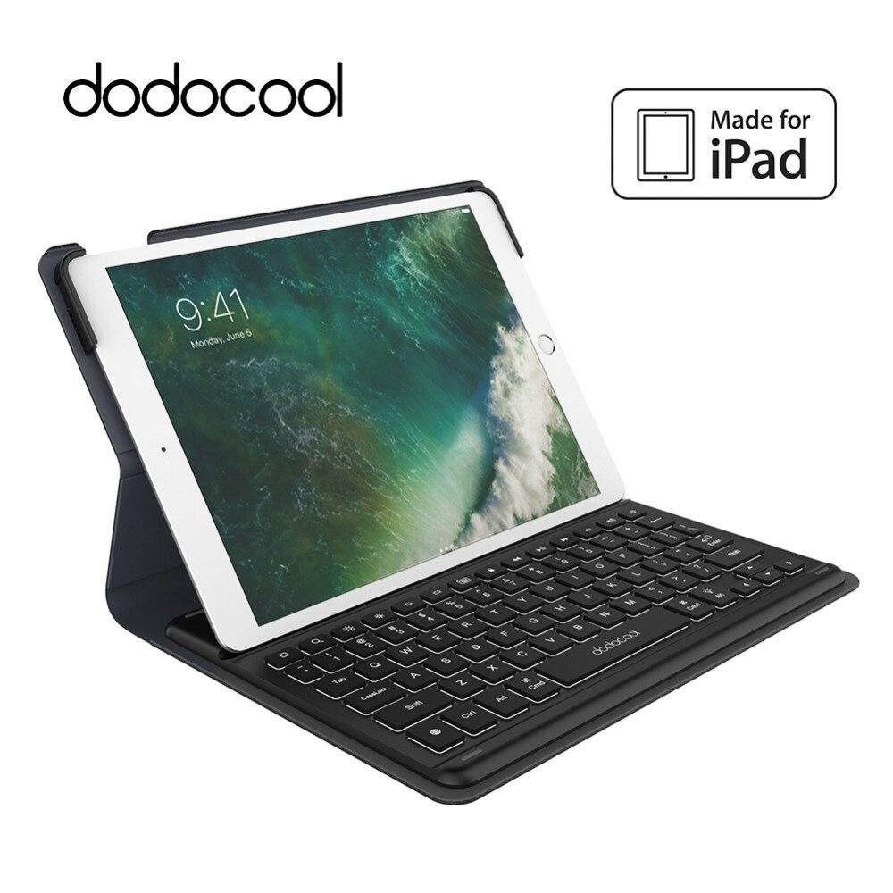 Dodocool MFi Zertifiziert Smart Tastatur für iPad Pro 10,5 zoll mit Smart Stecker Schlank Shell Schutzhülle Folio Fall Stehen