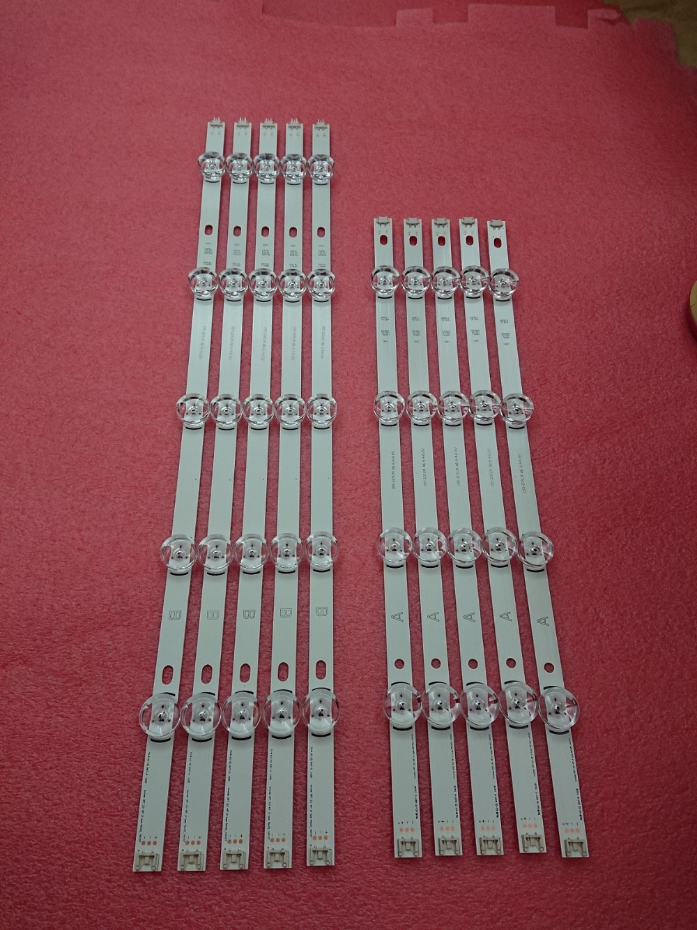 New 10 PCS/set LED Strip Replacement For LG 49LB580V 49LB5500 Innotek DRT 3.0 49 A B 6916L-1788A 6916L-1789A 6916L-1944A 1945A