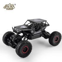RC Car 1:18 4DW 2.4GHz Metal Rock Crawlers Rally Climbing Car Double Motors Bigfoot Car Remote Control Model Toys for Boys.