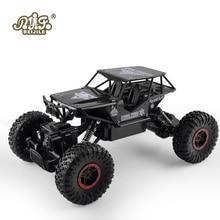 RC Car 1:18 4DW 2.4GHz Metal Rock Crawlers Rally Climbing Car Double Motors Bigfoot Car Remote Control Model Toys for Boys.