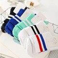 5 пар = 10 ШТ. женские носки полосатые носки Harajuku два бара весной и summer хлопок носки