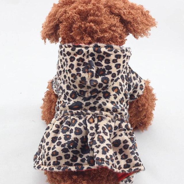 Gli animali domestici I Cani Del Modello Del Leopardo Tutu Vestito Da Cappotto C