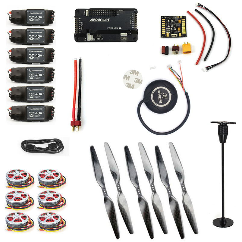 F05423-K Newbie kits 350KV Motor+40A ESC+1555 Props + APM2.8 GPS for 6-Aix RC Drone Quadcopter Hexacopter Multi-Rotor Aircraft f15843 j k l 4 aix helicopter accessories kit with apm 2 8 gps for 450 4 aix rc drone quadcopter hexacopter multi rotor aircraft