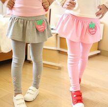 New Arrive Spring autumn Retail girl legging Girls Skirt-pants Cake skirt girl baby pants kids leggings Ruffles Skirt-pants