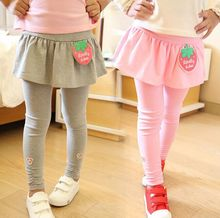 New Arrive Spring autumn Retail girl legging Girls Skirt-pants Cake skirt girl baby pants kids leggings Ruffles Skirt-pants