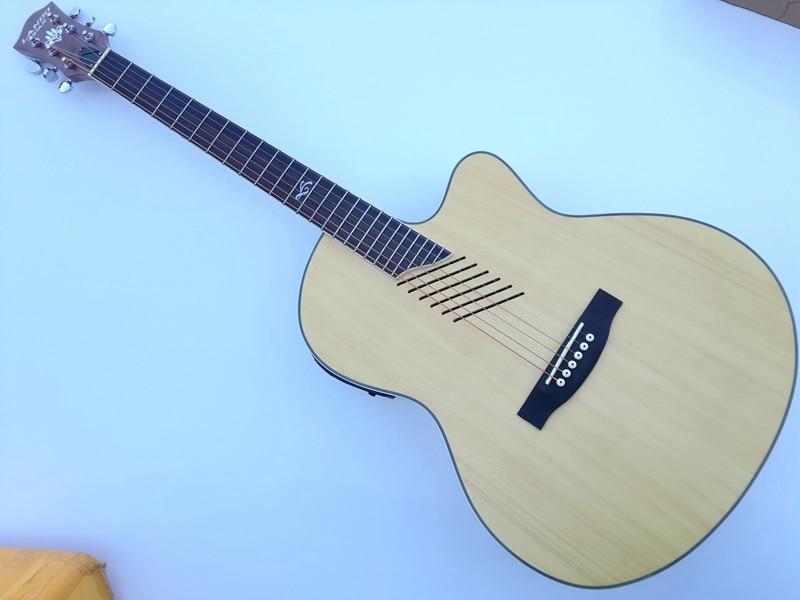 new design oblique hole folk guitar acoustic electric guitar