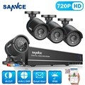 Sannce 8ch 1080 p salida hdmi 720 p hd dvr kit cctv sistema 4 unids 720 P 1200TVL CCTV Cámara Exterior de INFRARROJOS de Vigilancia de Seguridad kits