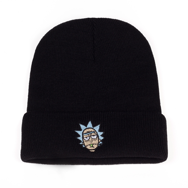 Elastic Brand Embroidery Warm Winter Unisex Knitted Hat 1