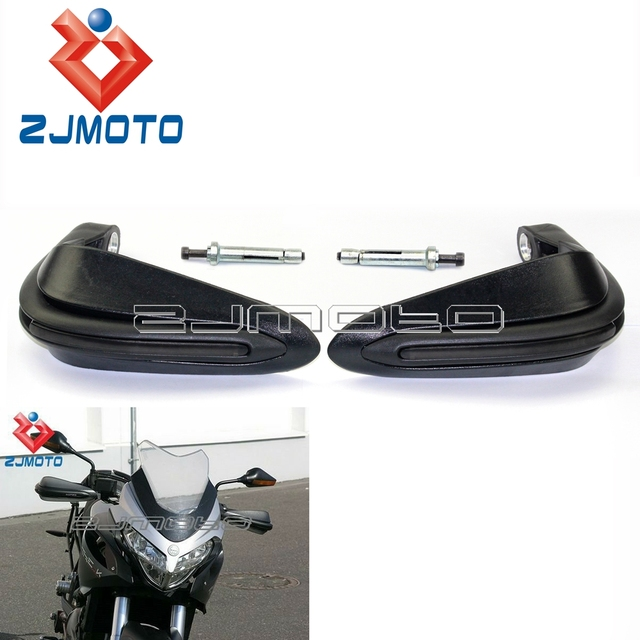 ZJMOTO Matt Black Motorcycle Motocross Dual Road Dual Sport Super Moto Handguards For Yamaha FZ6 08-09 FZ1 08-09