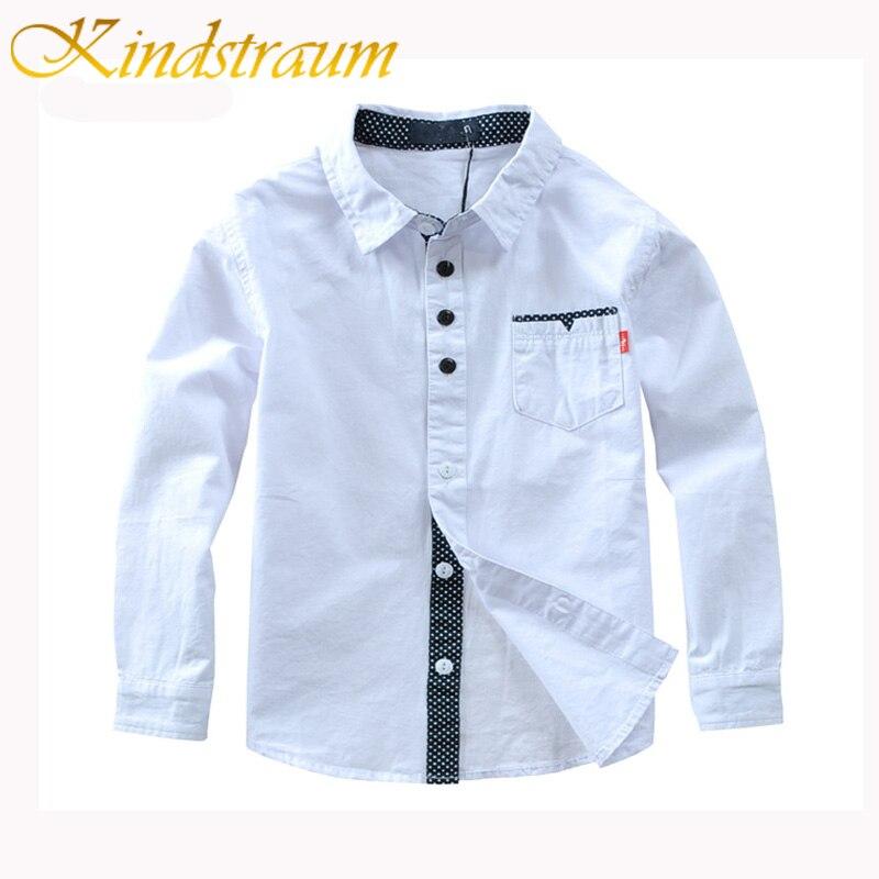 Kindstraum 2020 Boys Shirts Solid Pattern Kids Fashion Cotton Shirts Long Sleeve Spring & Autumn Children Brand Clothes, MC837