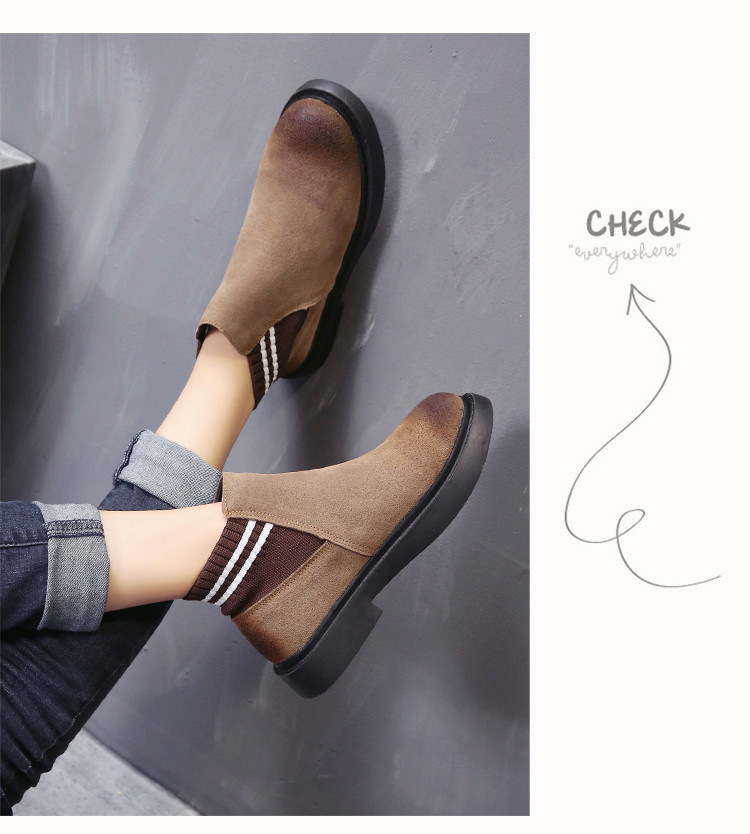 The new autumn 2018 Martin boots flat short tube with restoring ancient ways round head women's boots 49