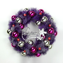 35CM Christmas Wreath Wall Hanging Garland Big Welcome Front Door Wreath  Department Stores Decoration New Year