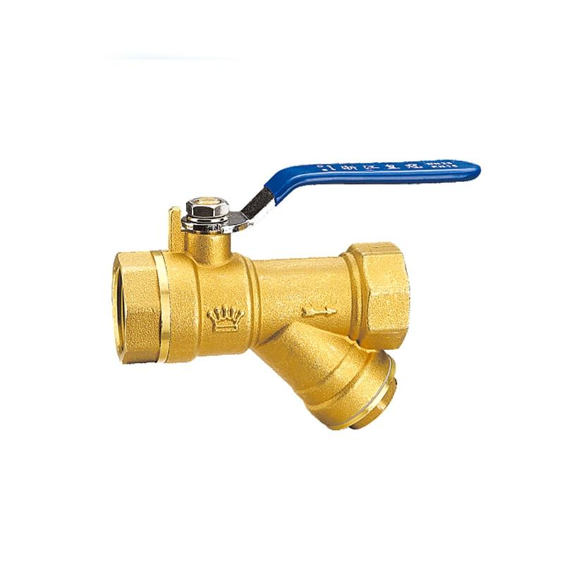 Brass y type strainer filter ball valve female thread
