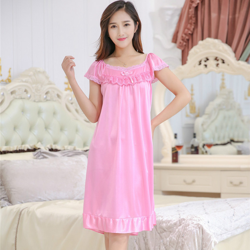 Summer style Plus Size Rayon Bathrobe Womens Kimono Satin Long Silk Robe  Sexy Lingerie Hot Nightgown Sleepwear 9 Colors 4XL 55be557ee