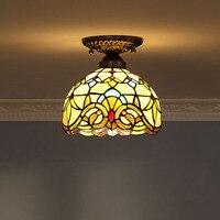 Yi Xuan European Baroque Warm Yang Lamp Retro coffee shop aisle lights hall ceiling lamps lamp