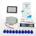 ¡ Venta caliente!! Completo completo RFID Door Lock Sistema de Control de Acceso + fuente de Alimentación + Eléctrico de Bloqueo Magnético + Botón Exit + campana + Keys
