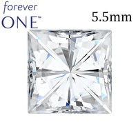 One Carat VVS D Color Certified Charles Colvard Forever One Square Brilliant Cut Moissanite Stone With