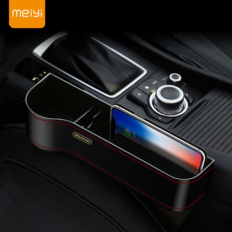 Qi Wireless Charger StorageCase For iPhone XS Max X XR 8 Fast Wireless Charging Car Phone Holder For Samsung Note 9 S9 Charger