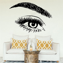 Wall Art Sticker Vinyl Removeable Decoration Eyelashes Lashes Extensions Poster Beauty Salon Ornament Eyebroes Mural LY383