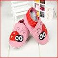 Envío gratis marca la moda de nueva navidad del bebé zapatos niñas zapatos de bebé de cuero genuino zapatilla infantil cuna de zapatos pre-walker 0-24 m