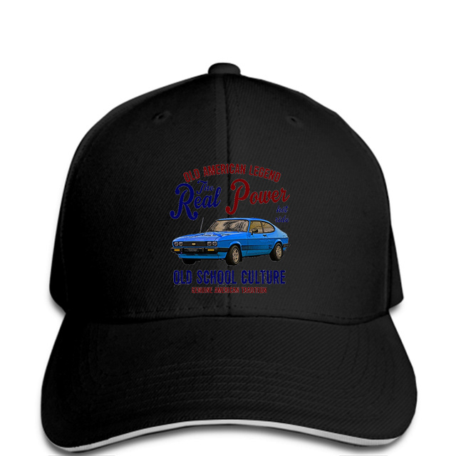 a27a233f Baseball cap Vintage American Car Ford Capri Hat Mens Casual Hat-in ...