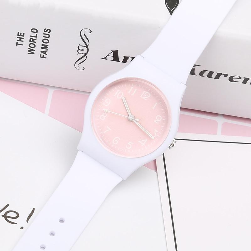 CIOFA Brand New Modni Jednostavno Broj Dial Slatka Harajuku Pink - Dječja satovi - Foto 4