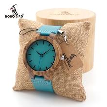 BOBO BIRD Men's Ebony Wood Watches Timepiece Simple Blue Design Men Top Brand Wrist Watches