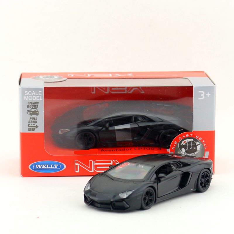 Welly/DieCast Metal Model/1:36 Scale/Aventador LP700-4 Super Racing Toy Car/Pull Back Educational Collection/Gift/Collection/Kid