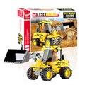 J511 Escavadeira Modelo Blocos de Construção Kits 117 pçs/set Educacionais Tijolos de Construção DIY Iluminai Criança Crianças Presente de Aniversário