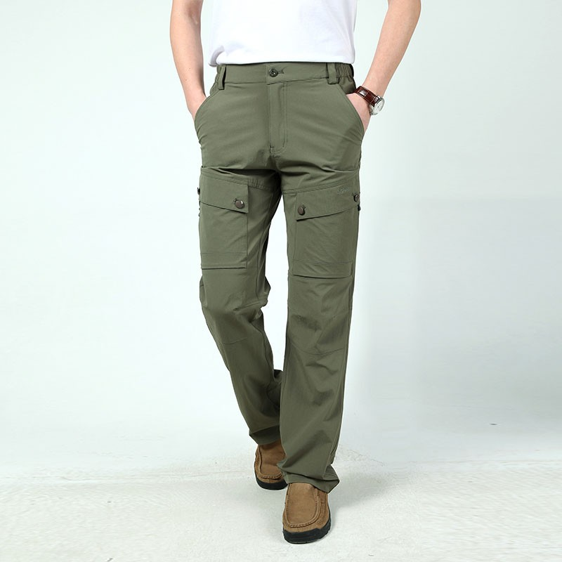 M~3XL 2016 New Spring Mens Plus Size Pants Quick Dry Breathable Long Short Trousers Man Straight Outdoor Waterproof Pantalones (4)