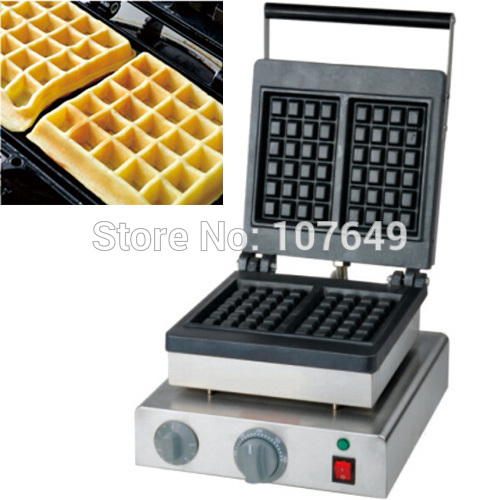 Hot Sale 110v 220V Commercial Use Non stick Electric Belgian Waffle Machine Maker Iron Baker