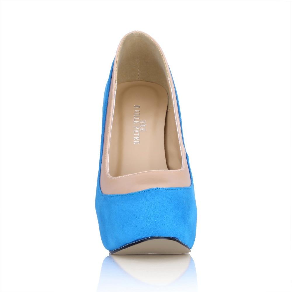 Mujer Plattform Sexy Stiletto High Heels Mode 2016 on Hochzeit 14 Frauen Pumpt Patchwork Slip Cm Neue Zapatos Einzelne Schuhe 80mPywvnON