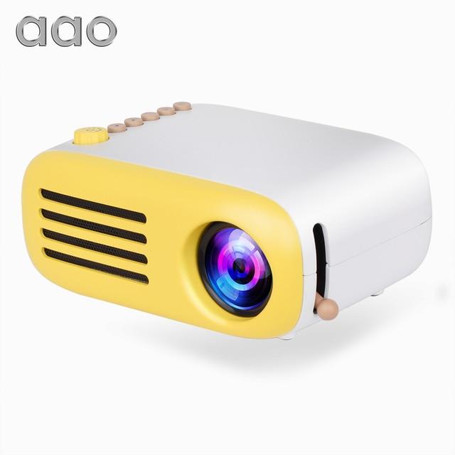 AAO YG300 YG310 Nâng Cấp YG200 Mini LED Máy Chiếu Nhà Máy Cân Bằng Laser 1 Trẻ Em Tặng USB HDMI Máy Chiếu Di Động Tùy Chọn Pin