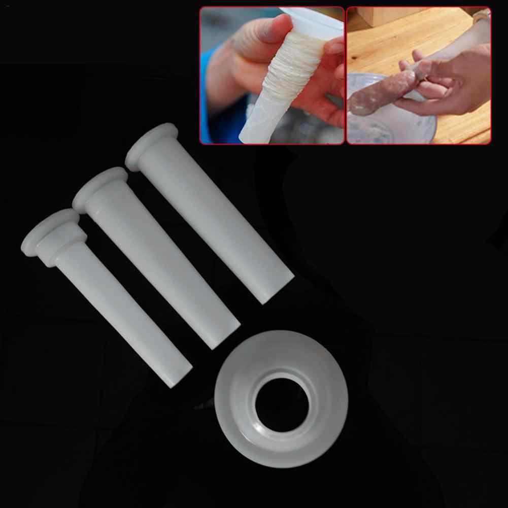 3 pièces/ensemble hachoir à viande saucisse farce Tubes de remplissage saucisse fabricant Tubes bricolage fabricant de saucisses entonnoirs buses cuisine viande outils