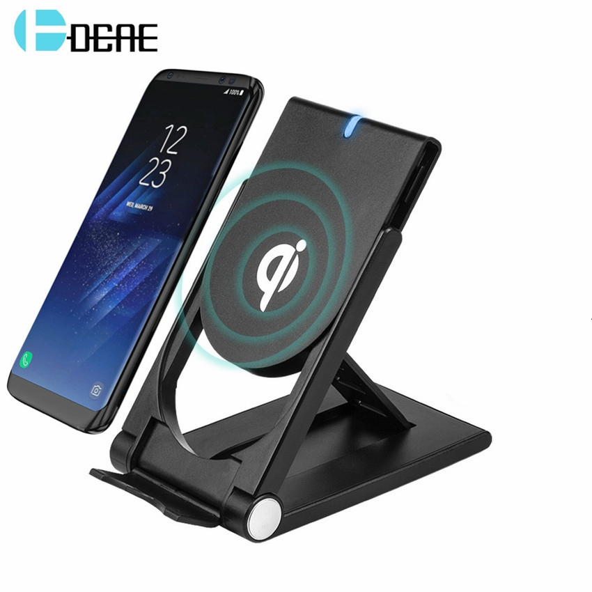 DCAE Wireless Charger for iPhone X 8 Plus Qi Fast Wireless Charging Pad Holder Charger for Samsung Galaxy S9 S8 Plus S7 S6 edge