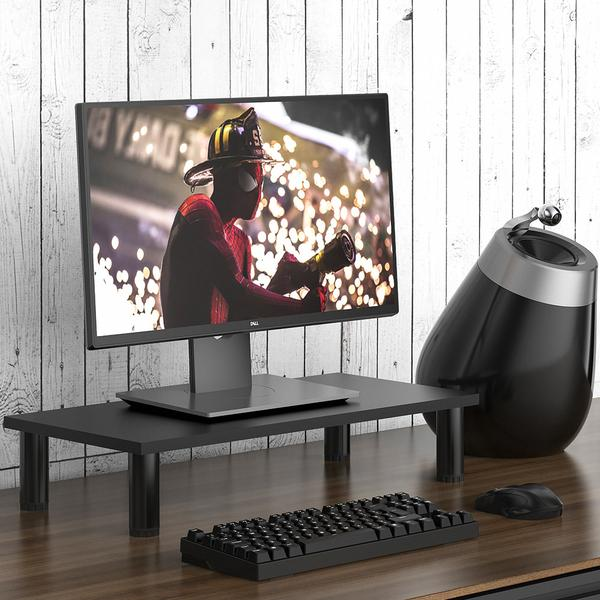 Fitueyes Monitor Stand & Riser, Laptop Stand, Tabletop, Desktop TV Stand With Height Adjustable Legs, 23.6 L, Black DT106002WB buy monitor for laptop