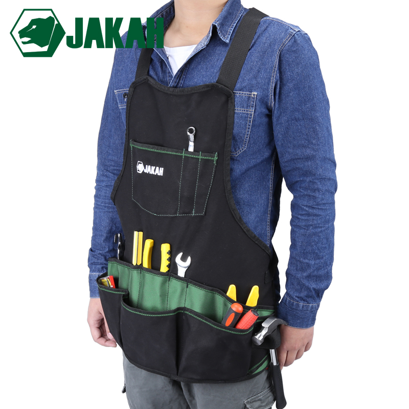 JAKAH 1680D Oxford Cloth Multifunctional Apron Garden Tools Packet Apron Hardware Tools Storage Bag|Tool Bags| |  - title=