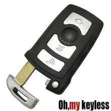 Vervanging Shell Smart Remote Key Keyless Entry Case Fob 4 Knop Voor BMW 7 Serie 745 750 i Li sleutel fob cover Met Insert Blade(China)